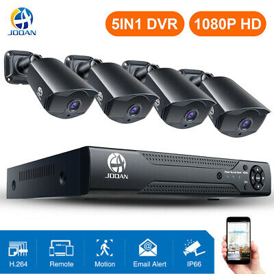 JOOAN Security Camera System 8CH HD 1080P Outdoor Home CCTV DVR Kits 1-2T
