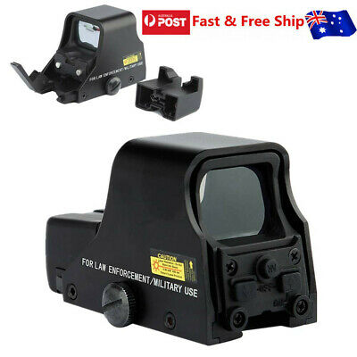 Red Green Dot Holographic Sight 551 Tactical Airsoft Scope Sight Black AU