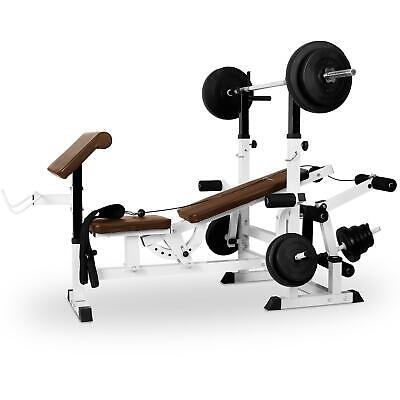 Banc Musculation Charge Guidee Appareil Fitness Bodybuilding Curl Abdo Fessier