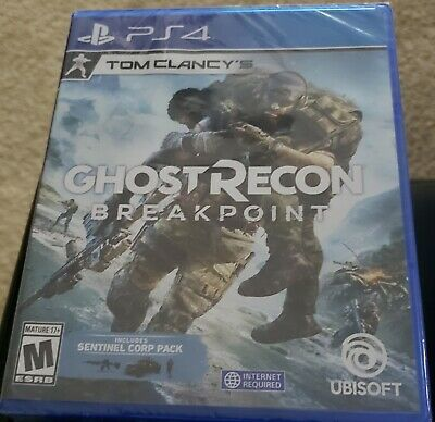 Tom Clancy's Ghost Recon Breakpoint PlayStation 4 PS4 W/ SENTINEL CORP PACK New