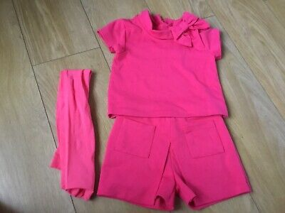 Girls Pink Two Piece Cullote Set Age 4 Years