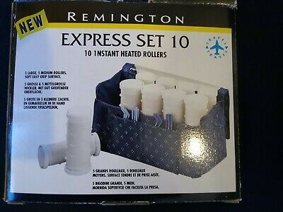 Remington Express 10 Duel Voltage Travel Heated Hair Rollers 5 Large & 5 Medium