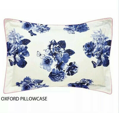 2x JOULES BUTTERFLY FLORAL   OXFORD  PILLOWCASES PAIR BONNIE BLUE