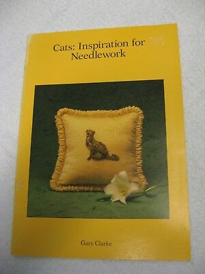 Cats Inspiration for Needlework Gary Clarke Embroidery Book Cushion 3D crewel