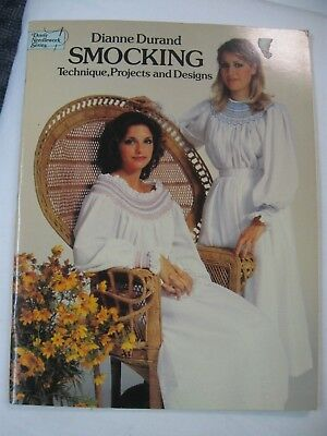 Smocking Technique Projects & Designs Charts DOVER Dianne Durand Train Vintage