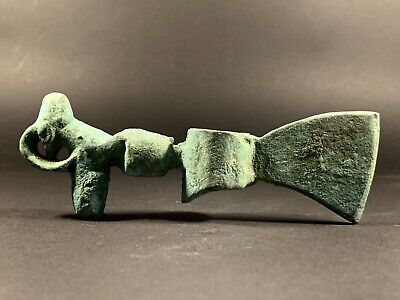Museum Quality Ancient Near Eastern Bronze Axe Ax Head Deer Top Circa 900-700 Bc