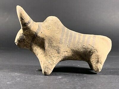G2 Ancient Indus Valley Terracotta Zebu Bull Figurine Circa 2200-1800Bc