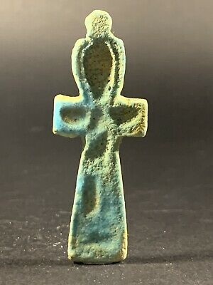 Beautiful Ancient Egyptian Faience Key Of Life Circa 770-330Bc