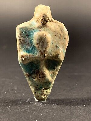 Ancient Egyptian Glazed Faience Key Of Life With  Detailing Circa 770-332Bc