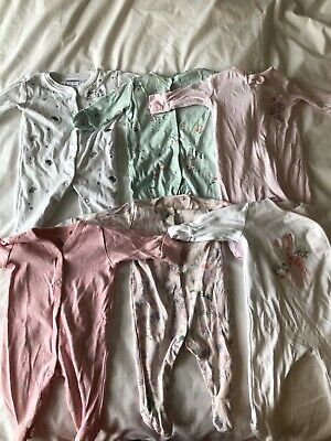 Baby Girl Sleepsuit Bundle 0-1/0-3 Months - Next/JoJo Maman Bebe/Wondernation