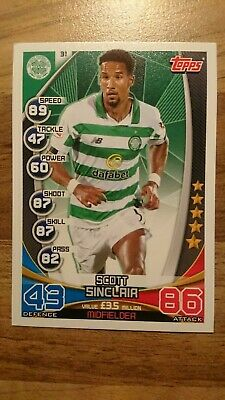 TOPPS MATCH ATTAX SPFL 2019/2020 - Scott Sinclair - Celtic -