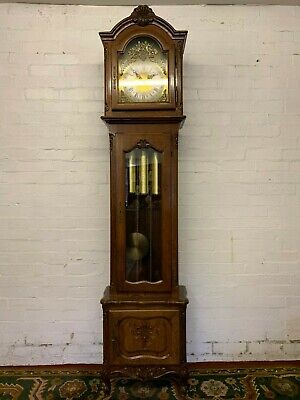 Stunning French Carved Oak Eight Day Grandfather Clock