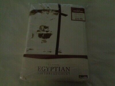 Dunelm Mill Classic Egyptian 120 tc pair of double bed sheets, white