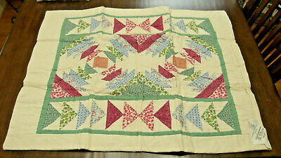 """2 VTG 31"""" x 25"""" Standard Patchwork Quilted SHAMS -Country Pineapple Design NIB"""