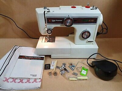 Vintage Frister Rossmann Panda 5 Sewing Machine Boxed With Instructions