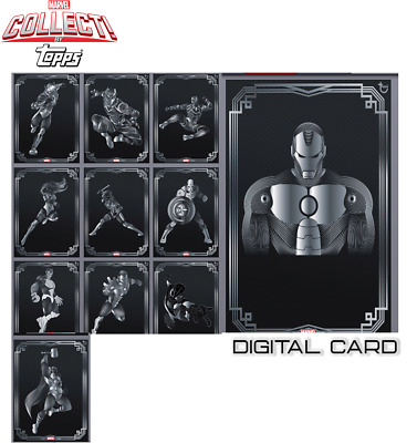 2019 TOPPS DECO AVENGERS SILVER SET OF 10 + IRON MAN AWARD Topps Marvel Collect