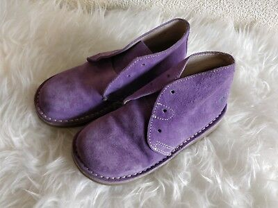 Hush Puppies Kids Purple Leather  Suede Ankle boots UK 12.5 Jnr EU 31
