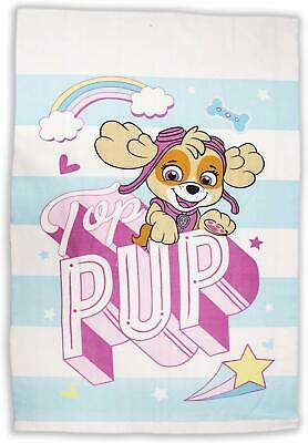 Paw Patrol Fleece Blanket Throw Girls Pink Skye Brand New Bedroom Bed Gift