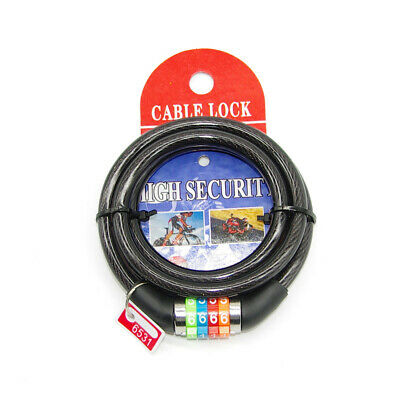 ANEX 4-digit Password Steel Coil Combination Lock For Motor Bike Color