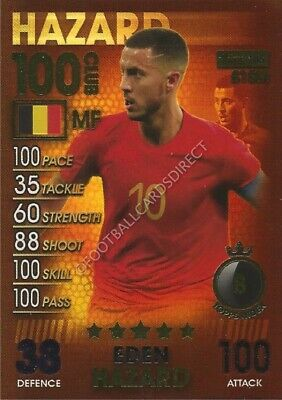 Match Attax 101 Eden Hazard 100 Club 2019 Belgium