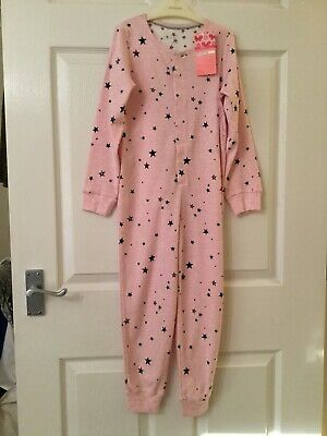 NEW....Girl's M&S Pink Star Patterned One-Piece.....5-6 yrs