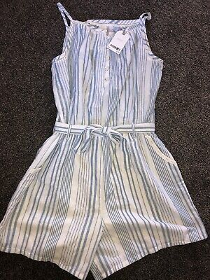 Next Age 16 Years Blue Stripe Playsuit BNWT RRP £19