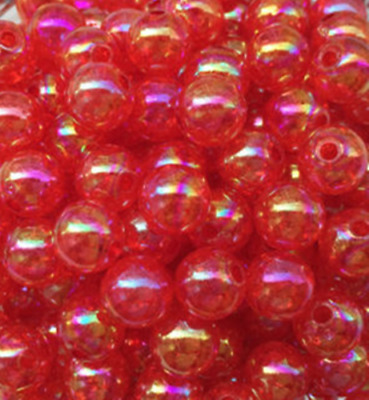 New40pcS 8mm red AB Chunky crack Beads Jewelry Pendant Bubblegum Necklace.