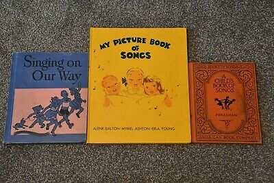 3 Vintage Children's Song Books ~ 1928 Foresman, 1949 Ginn & 1947 Donohue