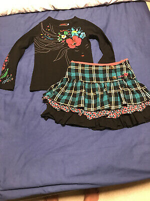 Girls Catimini Skirt And Top Age 5 Years