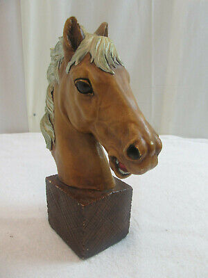 VERY COOL Hand Made Beautiful Large Detailed Horse Head Carving Statue Bust