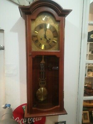 Vintage German AMS  Wall Clock  - Pendulum Clock - Regulator Clock