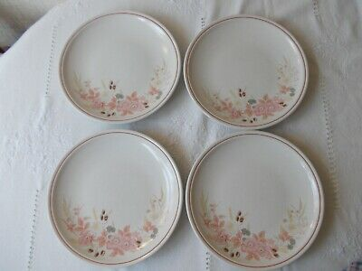 Boots Hedge Rose 4 dinner plates 26cm 10 1/2""