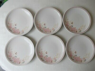 Boots Hedge Rose 6 dinner plates 26cm 10 1/2""