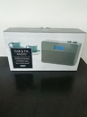 Tesco DAB & FM Portable Radio DR1704, Battery/Mains Stereo Speakers