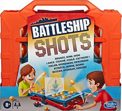 Hasbro Gaming - Battleship Shots Strategy Ball-Bouncing Game