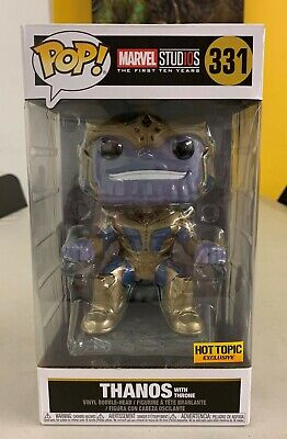 "Pop! Marvel Studios Thanos with Throne #331 Hot Topic Exclusive 6"" SUPER SIZED"