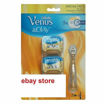 Sealed New Gillette Venus & Olay Handle plus 5 Blades