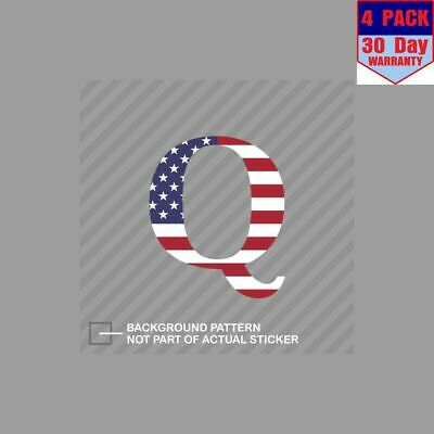 Q American Flag Qanon Anon Usa Patriot 4 Stickers 4x4 Inch Sticker Decal