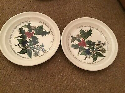 Portmeirion The Holly And The Ivy Tea Plates X 2 BRAND NEW Approx 7.5 Inches