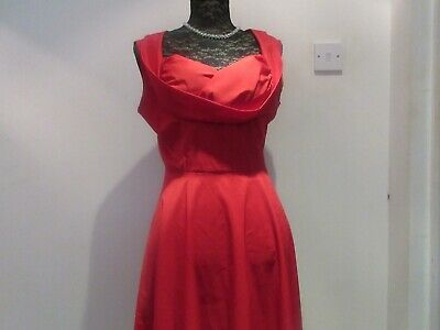 Unbranded Red Cocktail Sleeveless Twist Sweetheart Fit and Flair Dress Size XL