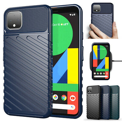 For Google Pixel 4 / 4XL ShockProof Case Protective Hybrid Silicone Back Cover