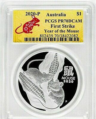 2020-P $1 Australia Year of the Mouse PCGS PR70DCAM First Strike