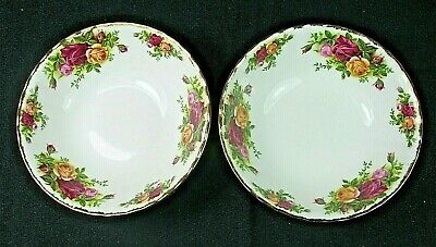 2 x Royal Albert England OLD COUNTRY ROSES CEREAL BOWLS  6 1/8 INCHES
