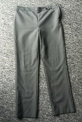 Girls Plain Black School Trousers Straight Leg from George 11-12