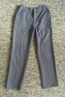 Girls Plain Navy Blue School Trousers from George 10-11