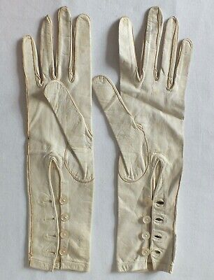 VINTAGE GLOVES LEATHER    CREAM BRACELET LENGTH   SIZE 6 Approx  STUNNING