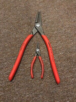 Knipex 49 11 A4 External Circlip Pliers 85mm - 140mm & Knipex 48 11 J1 12-25Used