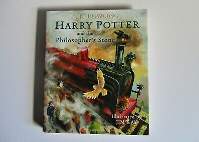 Harry Potter and the Philosopher's Stone ILLUSTRATED Edition Hardback *Ex Cond