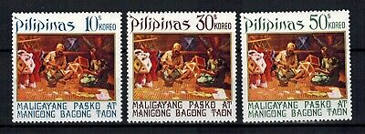 1972 Philippines Stamps - Sc#1175-1177  Christmas Set - MLH