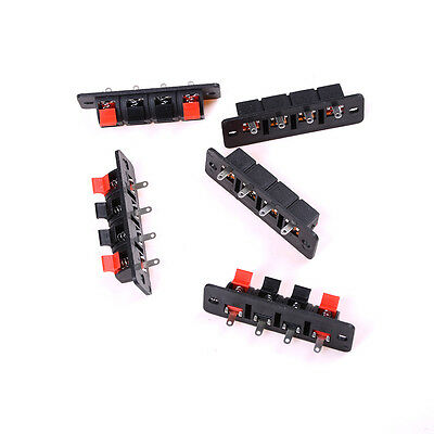 Single Row 4 Pin 4 Position Speaker Terminal Board Connectors 5 Pcs -PN
